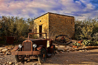 Photograph - Terlingua Ghost Town 1 by Judy Vincent