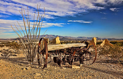 Photograph - Terlingua Ghost Town 2 by Judy Vincent