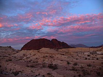 Print featuring the painting Terlingua Sunset by Dennis Ciscel