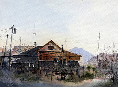 Painting - Terlingua Trading Post Vista by Tim Oliver