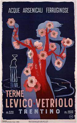 Mixed Media - Terme Levico Vetriolo, Trentino, Italy - Retro Travel Poster - Vintage Poster by Studio Grafiikka