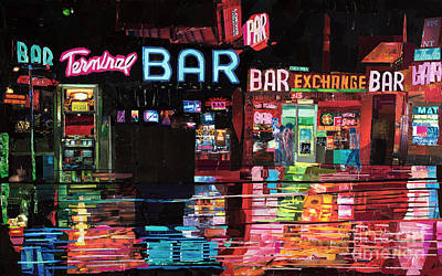 Terminal Bar Art Print by Dominic DaSylva