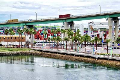 Photograph - Terminal Island Bridge In San Pedro by Kirsten Giving