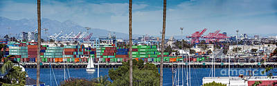Photograph - Terminal Island Containers by David Zanzinger