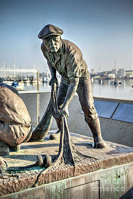 Photograph - Terminal Island Japanese Fishing Village Memorial by David Zanzinger