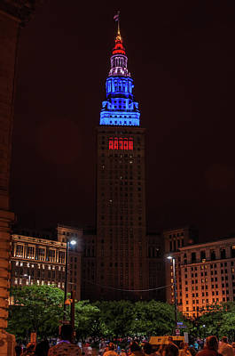Photograph - Terminal Tower Blues by Stewart Helberg