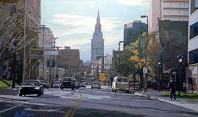 Painting - Terminal Tower by David Buttram