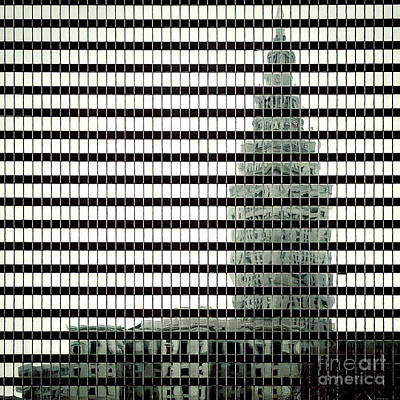 Terminal Tower Refelection Art Print by Peter Tompkins