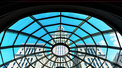 Photograph - Terminal Tower Round Skylight by Peter Tompkins