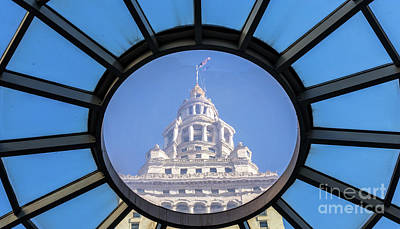 Photograph - Terminal Tower Skylight by Peter Tompkins