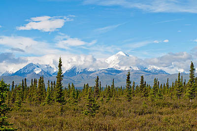 Photograph - Termination Dust - Alaska Range by Cathy Mahnke