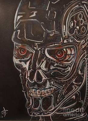 The Terminator Painting - Terminator Lines by John Sodja