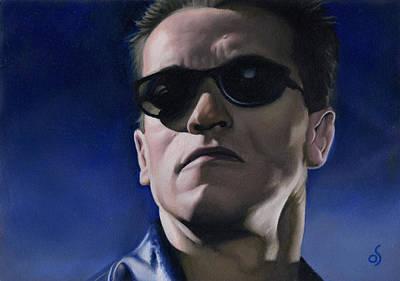 Schwarzenegger Painting - Terminator by Osvaldo Sosa