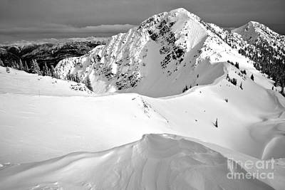 Photograph - Terminator Peak Black And White by Adam Jewell
