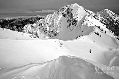 Photograph - Terminator Peak Black And White by Adam Jewell