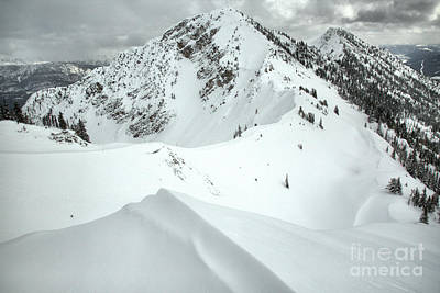 Photograph - Terminator Peak Snow Drifts by Adam Jewell