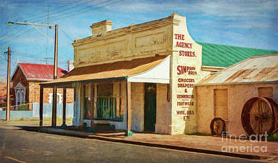 Photograph - Terowie Main Street 1 by Stuart Row