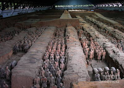 Photograph - Terra Cotta Army At Mausoleum Of First Q'in Emperor by Jacqueline M Lewis