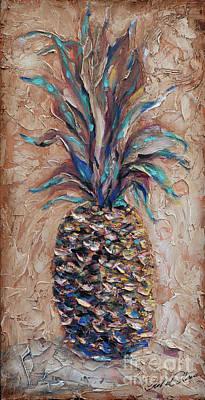 Painting - Terra Cotta Pineapple by Linda Olsen