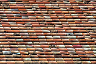 Photograph - Terra Cotta - Roof Tiles by Nikolyn McDonald