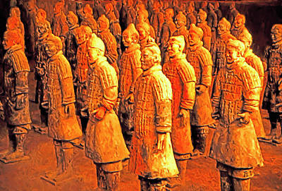 Mixed Media - Terra Cotta Soldiers by Dennis Cox Photo Explorer
