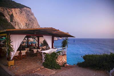 Lefkada Photograph - Terrace Above Porto Katsiki Paradise Beach Greece by Sandra Rugina