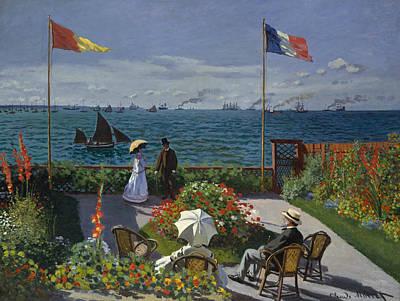 Painting - Terrace At Sainte-adresse by Claude Monet