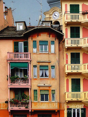 Photograph - Terrace Life In Italy by Sue Melvin