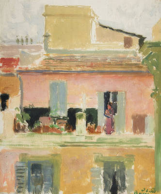 Painting - Terrace Of A Building In Rome by Jacque-Emile Blanche