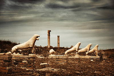 Photograph - Terrace Of The Lions In Delos by Songquan Deng