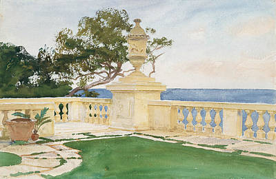Drawing - Terrace, Vizcaya by John Singer Sargent