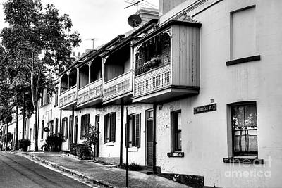 Photograph - Terraced Houses - Black And White By Kaye Menner by Kaye Menner