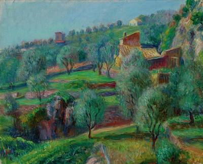 South Of France Painting - Terraces, South Of France by William James Glackens