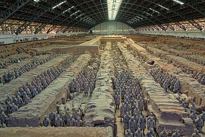 Photograph - Terracotta Army Pit 1 by Rick Lawler