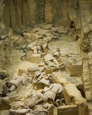 Photograph - Terracotta Army Pit 2 Xian Shaanxi China by Adam Rainoff