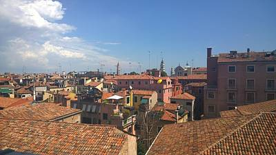 Photograph - Terracotta Rooftops by Anne Kotan