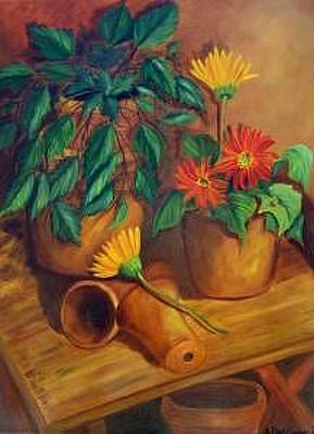 Painting - Terracotta Study by Susan Dehlinger