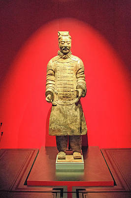 Photograph - Terracotta Warrior  A Brave Commanding Officer   by Allan Levin