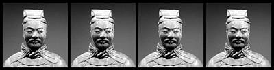 Photograph - Terracotta Warrior Army Of Qin Shi Huang Di - Mono 4 by Richard Reeve