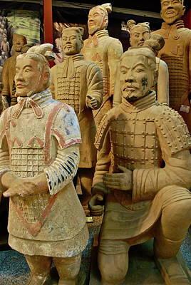 Chinese Warrior Photograph - Terracotta Warriors by Dorota Nowak