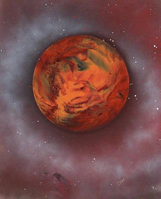 Terrestrial Sphere Painting - Terraform by Jason Girard