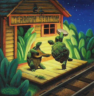 Wall Art - Painting - Terrapin Station by Chris Miles