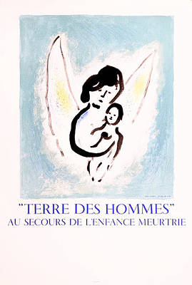 Mourlot Painting - Terre Des Hommes by Marc Chagall