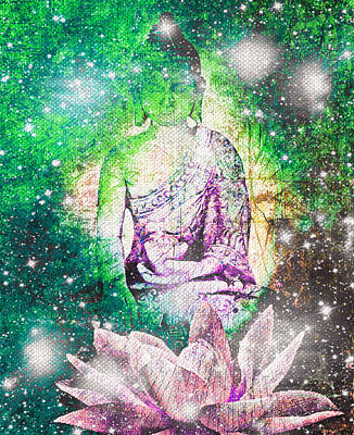 Digital Art - Terrestrial Buddha by Absinthe Art By Michelle LeAnn Scott