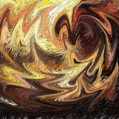 Painting - Terrestrial Flames Abstract  by Irina Sztukowski