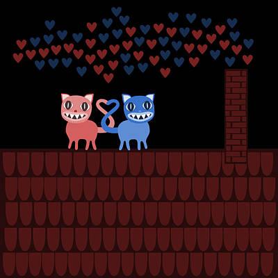 Fine Dining - Terrible Valentine cats  by Lenka Rottova