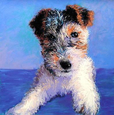 Lynee Sapere Wall Art - Painting - Terrier by Lynee Sapere