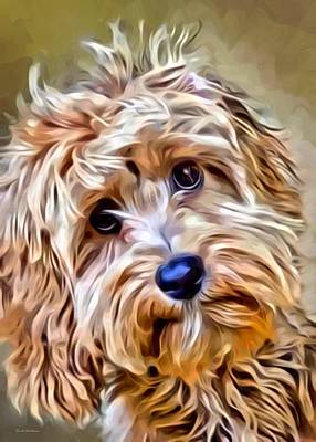 Puppies Digital Art - Terrier Portrait by Scott Wallace