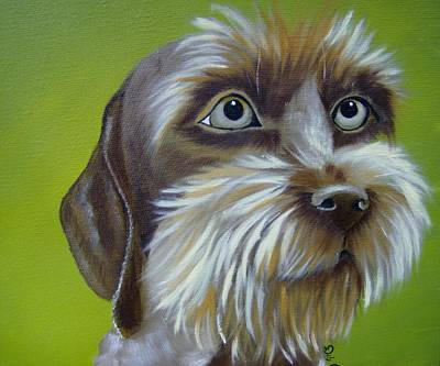 Painting - Terrier Waiting Patiently by Debra Campbell