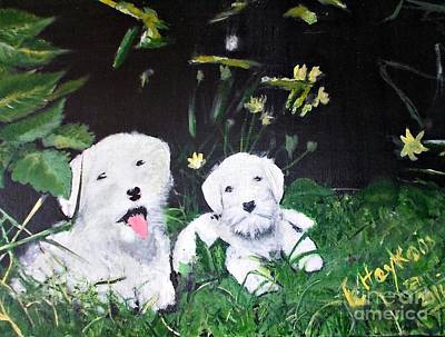 Painting - Terriers' Farm Pals. by Francine Heykoop